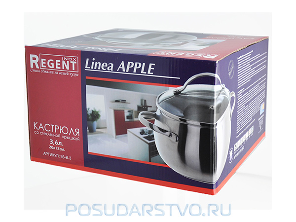Кастрюля Regent Inox Apple 93-B-3